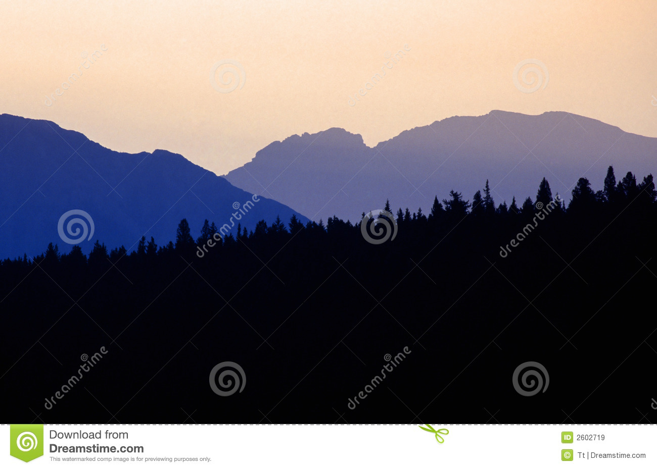 Mountain silhouette royalty free stock images image 2602719 Mountain silhouette