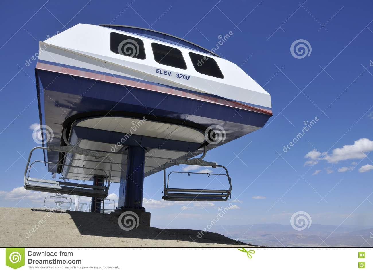 Mountain ski chair lift station stock images image 9775824