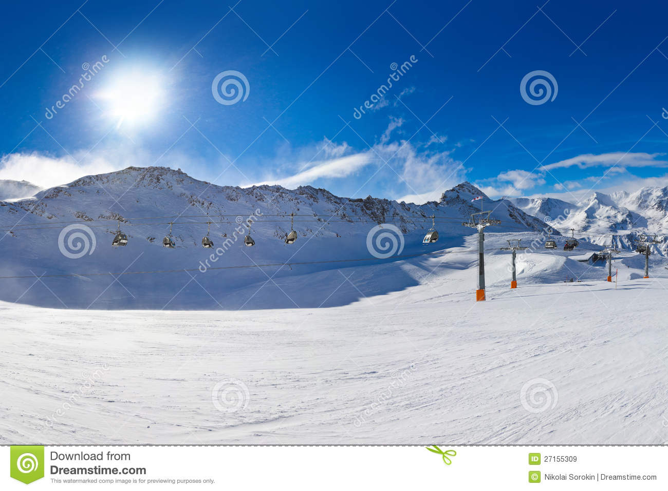 Hochgurgl Austria  city photos gallery : Mountain ski resort Hochgurgl Austria nature and sport background.