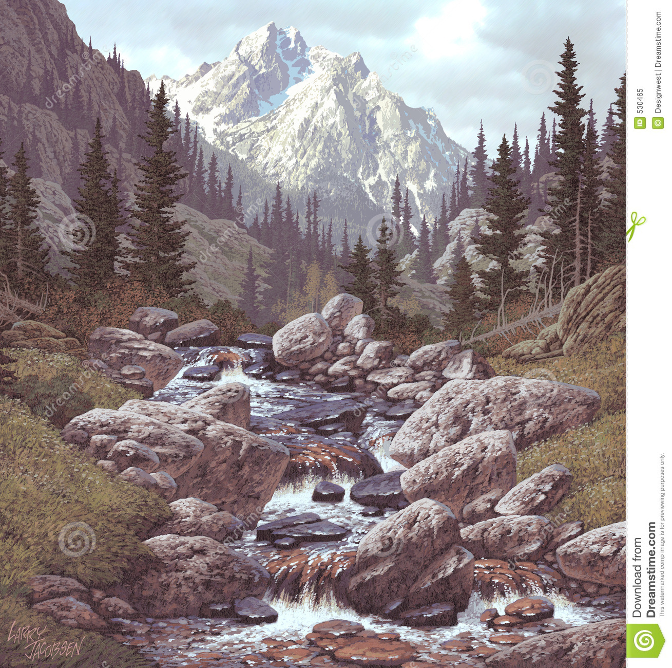 Mountain Stream in the Rockies