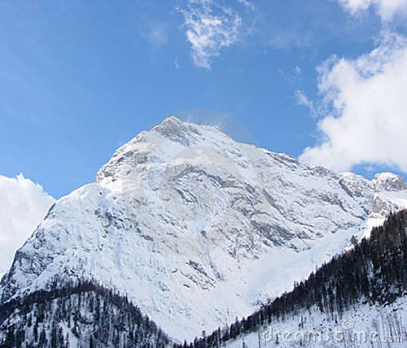 Mountain Summit With Tree Line Stock Image Image Of