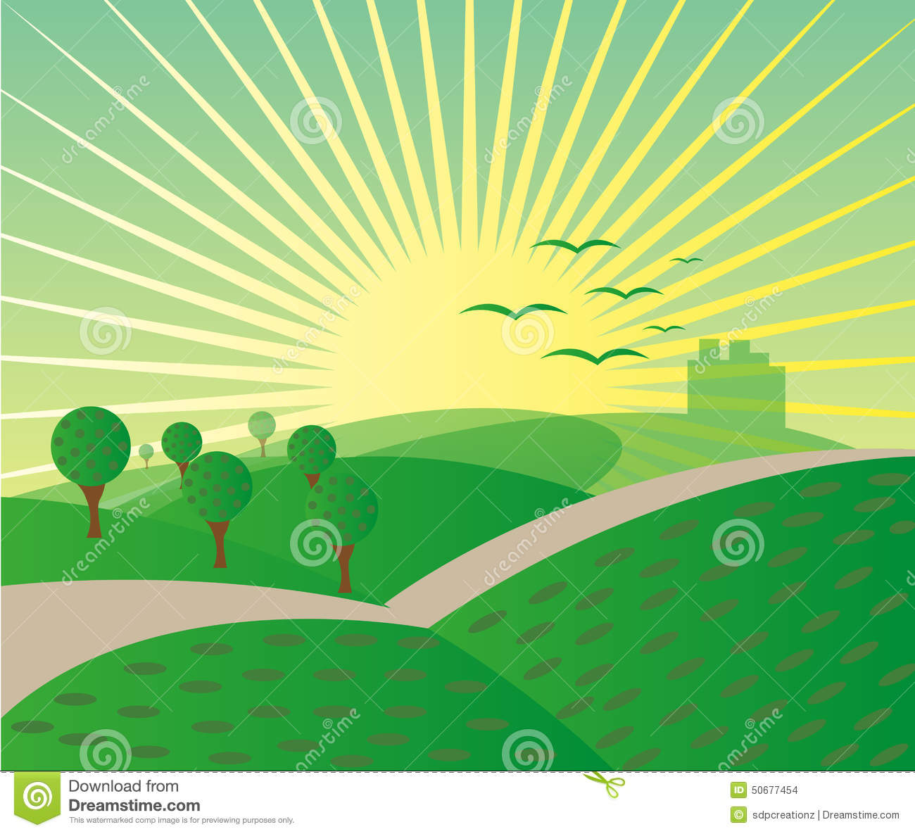 mountain sunrise landscape background stock illustration rh dreamstime com Mountain Silhouette Clip Art Simple Mountain Clip Art