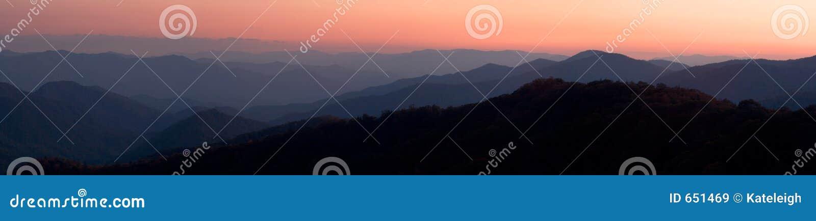 Mountain Sunset Panorama