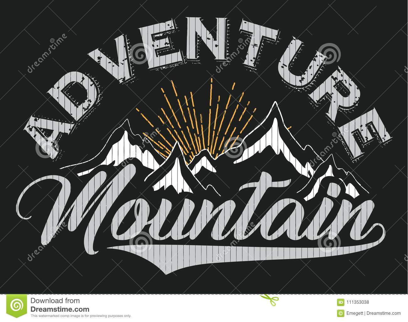 Mountain t shirt poster winter graphic design