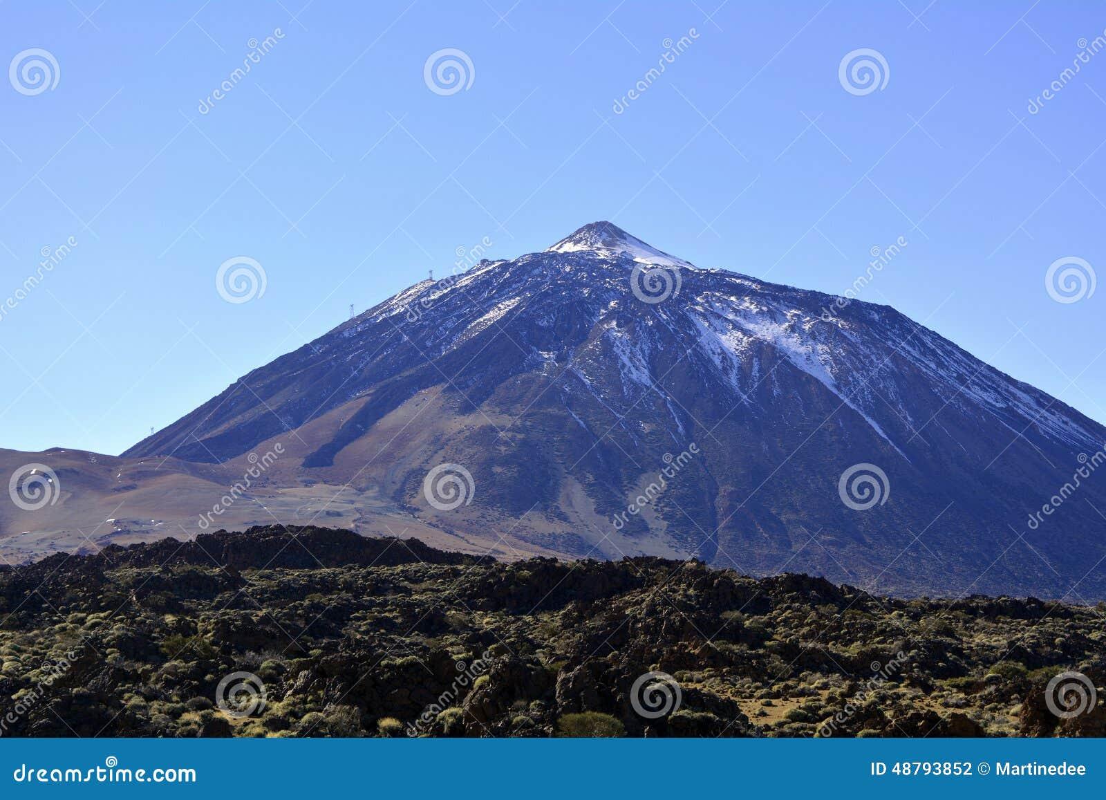 Mountain Teide In Tenerife Canary Islands Spain Stock Photo Picco Latte Matcha Green Tea Can Pico De