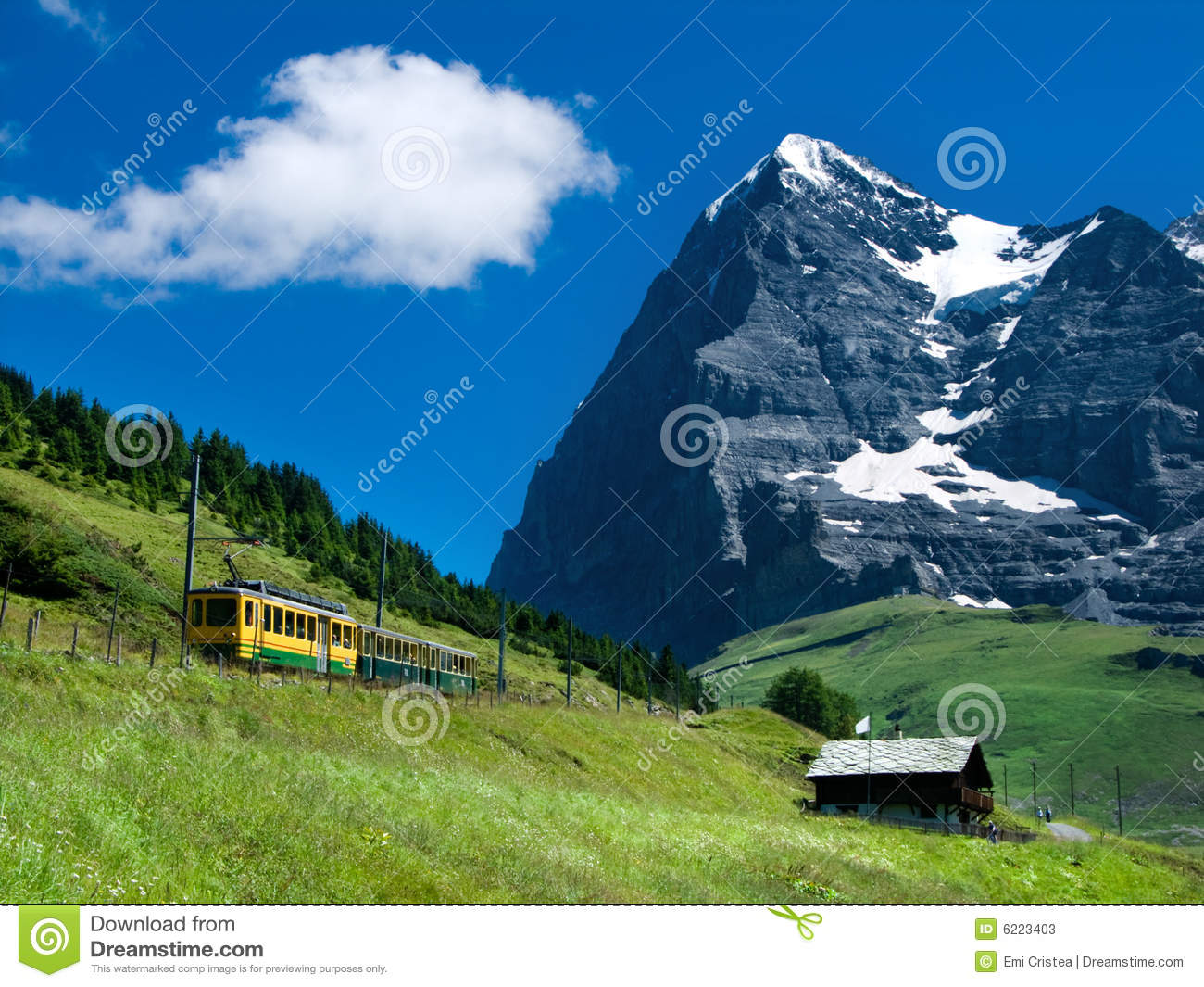 Mountain train on Eiger mountain, Switzerland