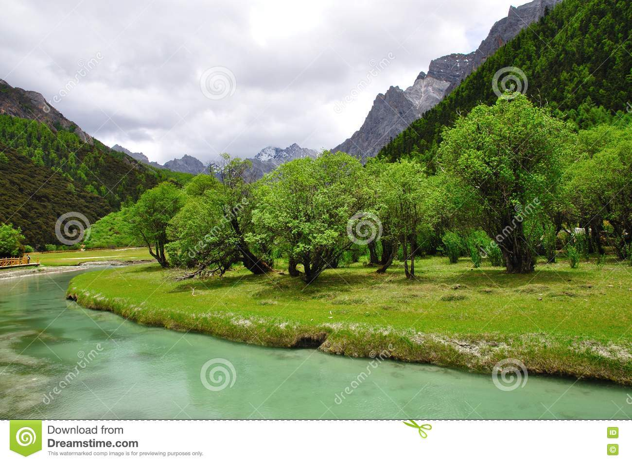 Mountain Trees And River Royalty Free Stock Images - Image: 20633279