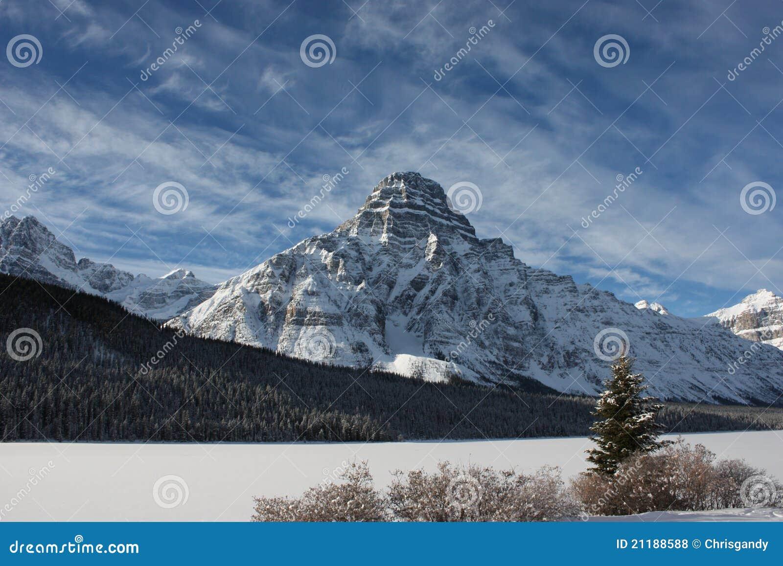 Mountain under a blue sky