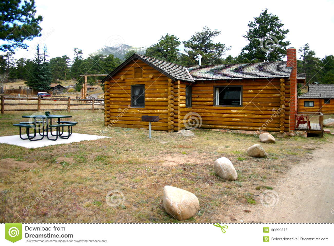 Mountain vacation rental cabin stock photo image 36399676 for Cabin rentals co