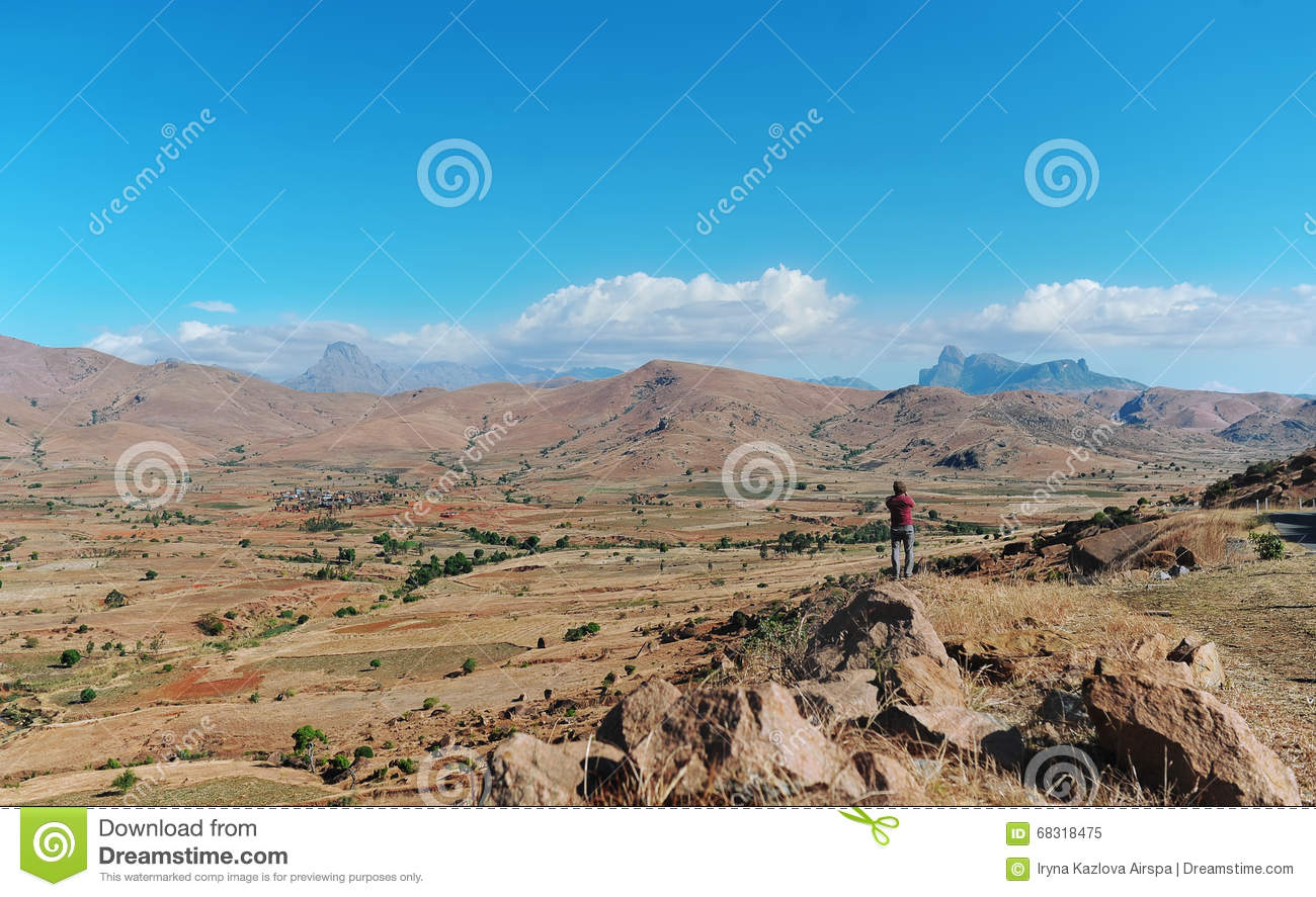 The mountain valley on the island of Madagascar.