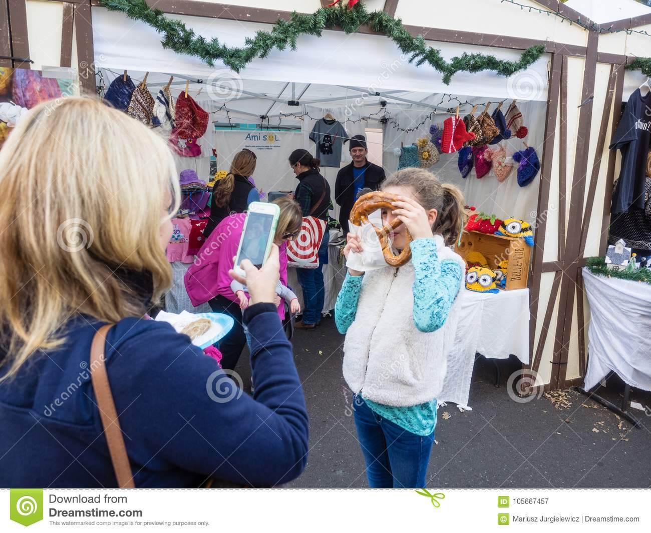 Weihnachtsmarkt L.German Christmas Market Editorial Photography Image Of Traditional