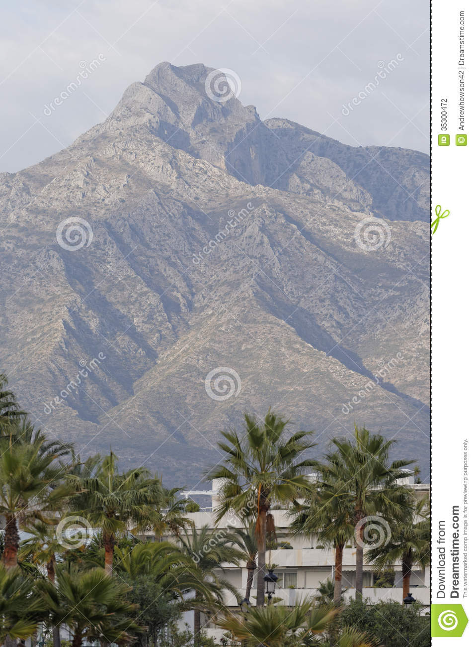 Mountain View Of La Concha Marbella Spain Stock Photography Image 35300472