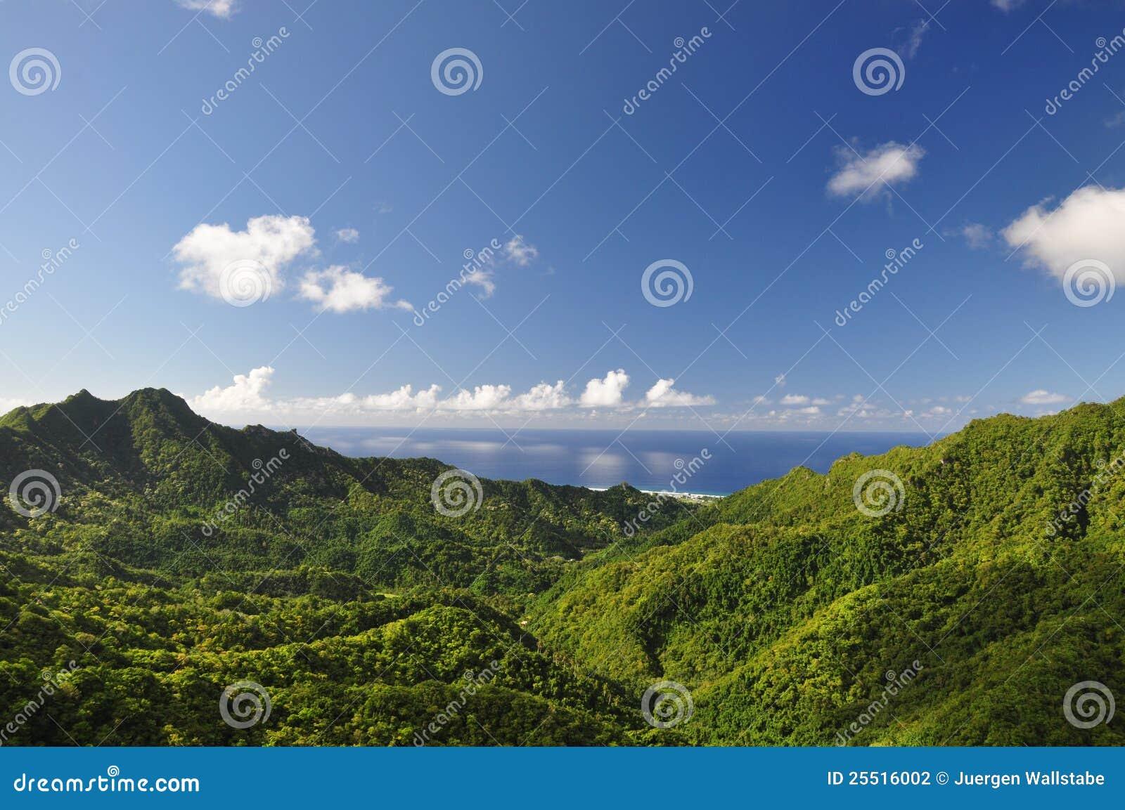 Download Mountain View Of Rarotonga, Cook Islands Stock Photo - Image of paradise, island: 25516002