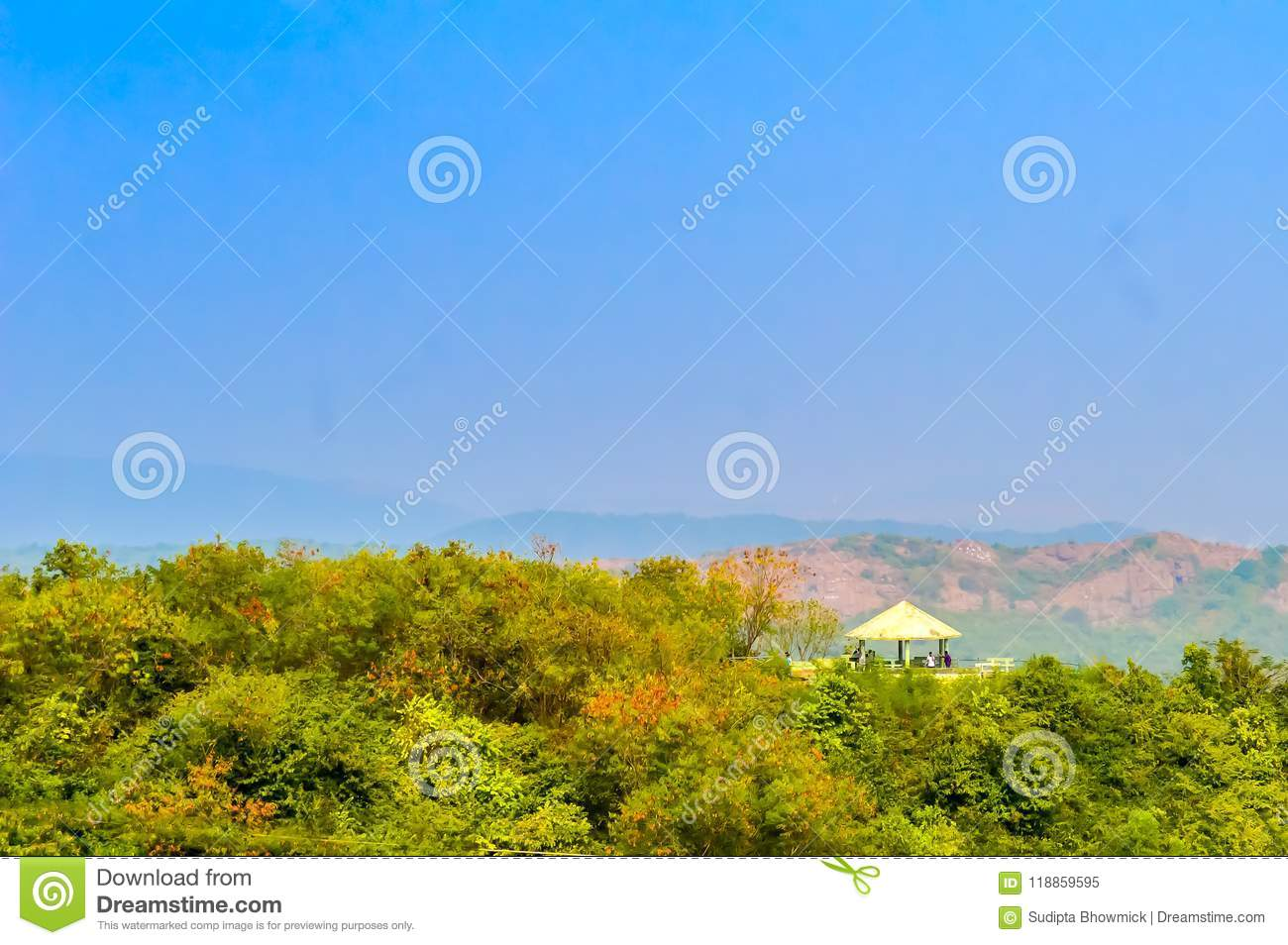 Mountain View From Top Of A Hill In Winter Stock Image Image Of