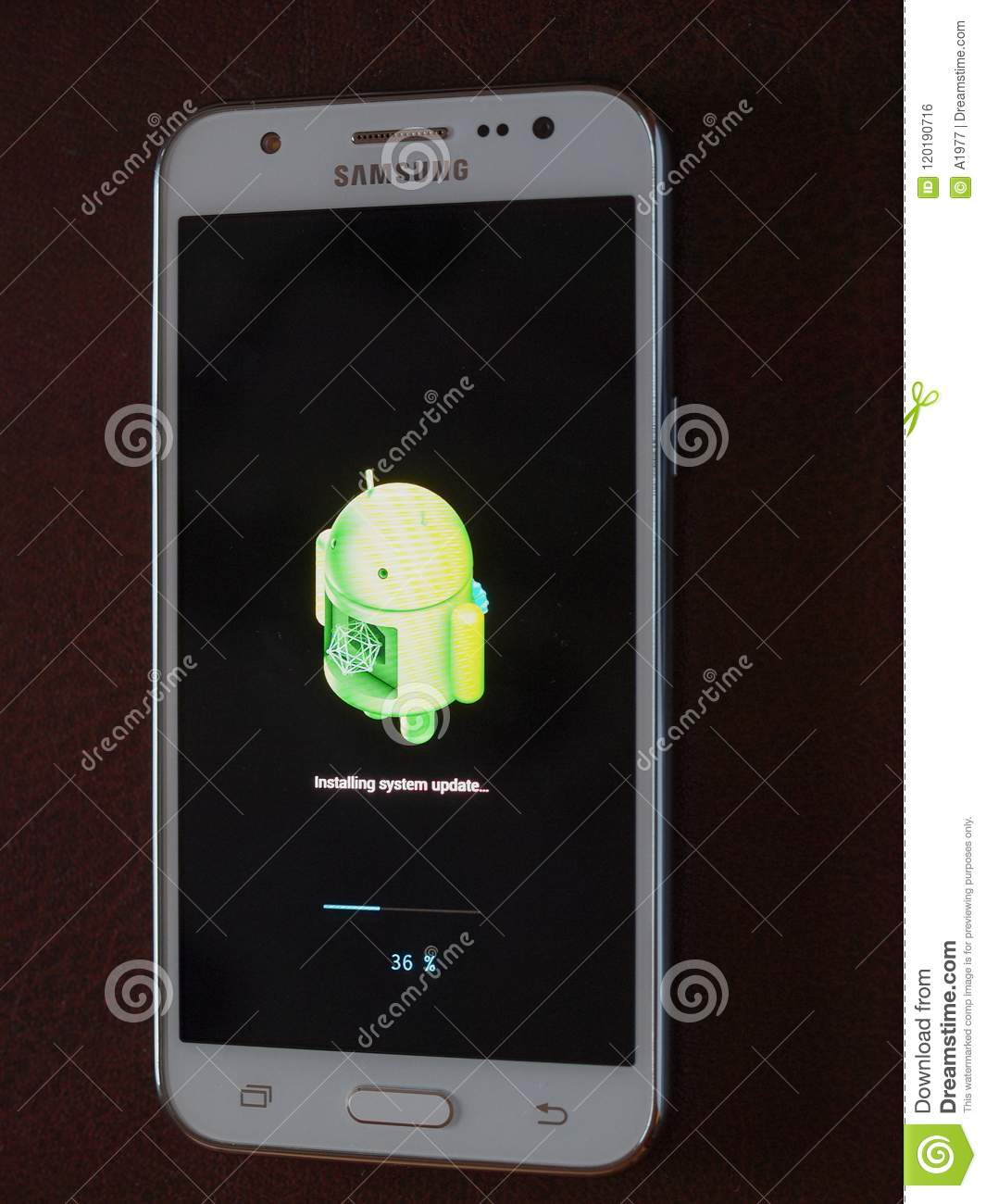 Android Installing System Update Editorial Photo - Image of
