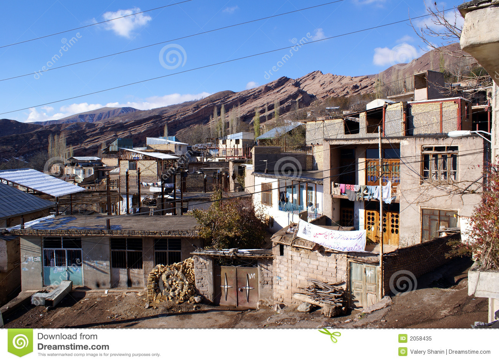 Mountain Village In Iran Royalty Free Stock Photo - Image: 2058435
