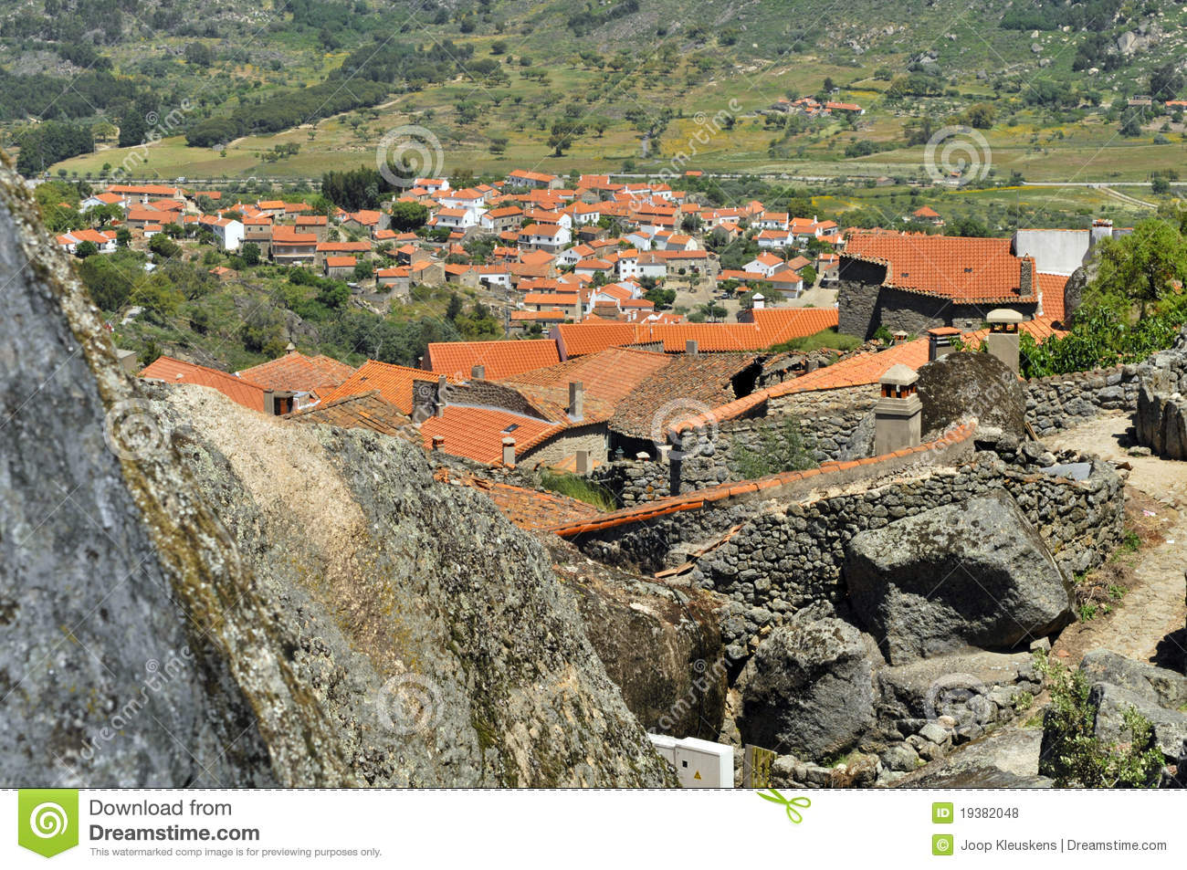 Mountain Village Monsanto Portugal Stock Photo Image Of Classic