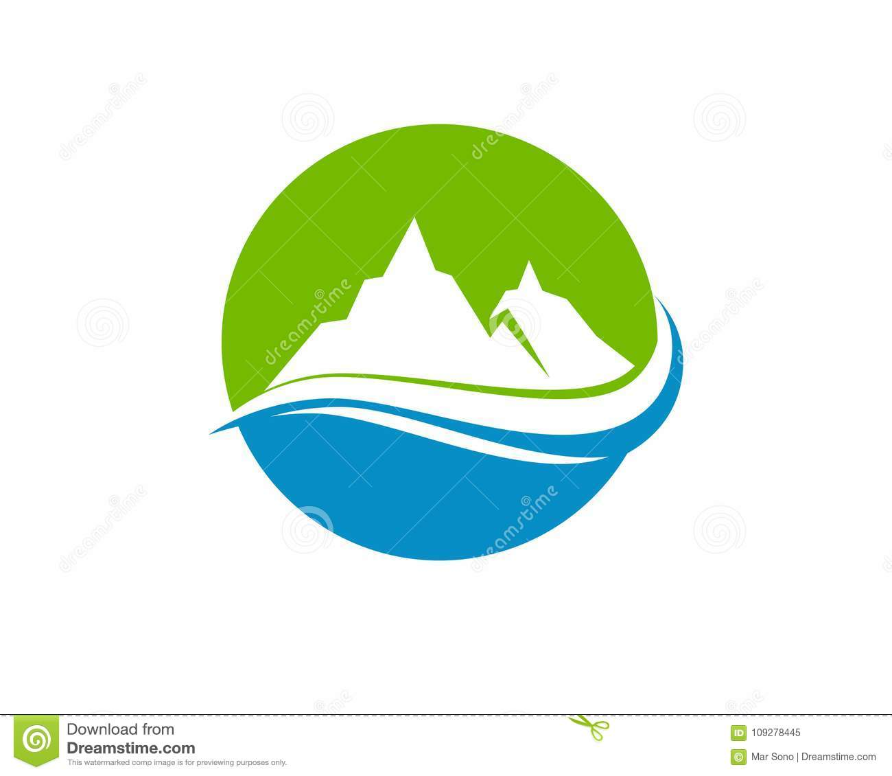 Mountain And Water Logo Business Template Vector Stock Vector ...
