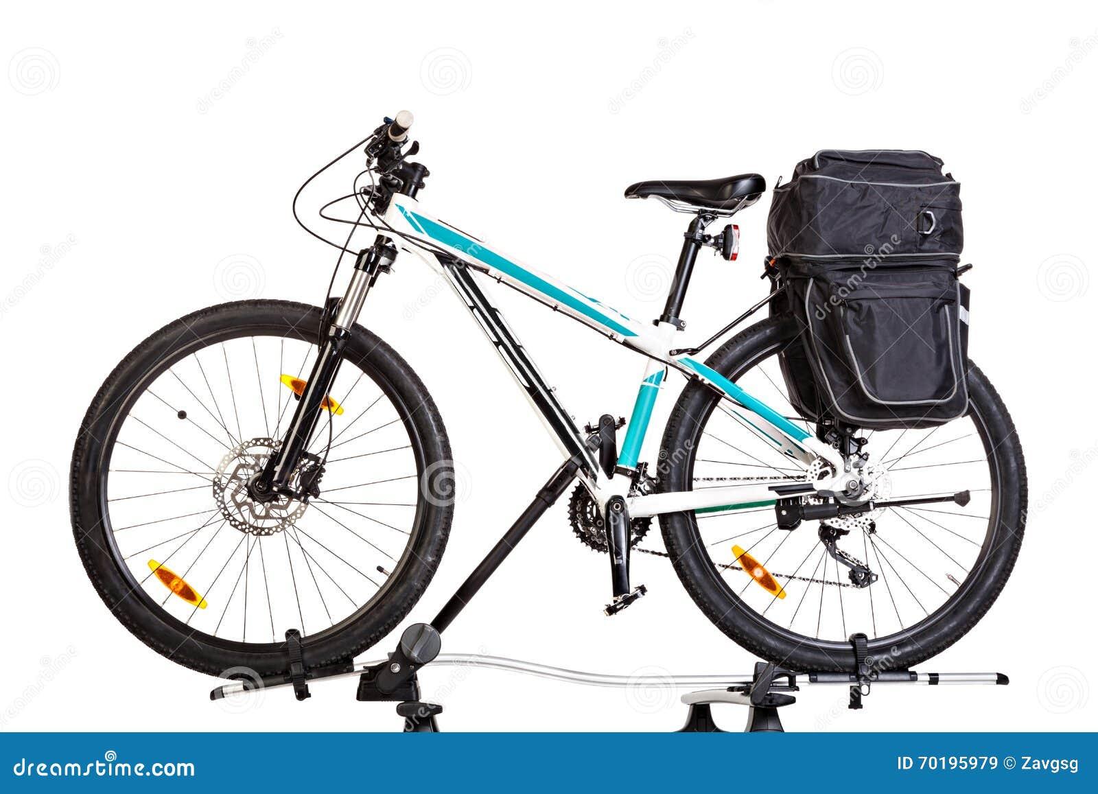 mountainbike mit satteltaschen stockbild bild von. Black Bedroom Furniture Sets. Home Design Ideas