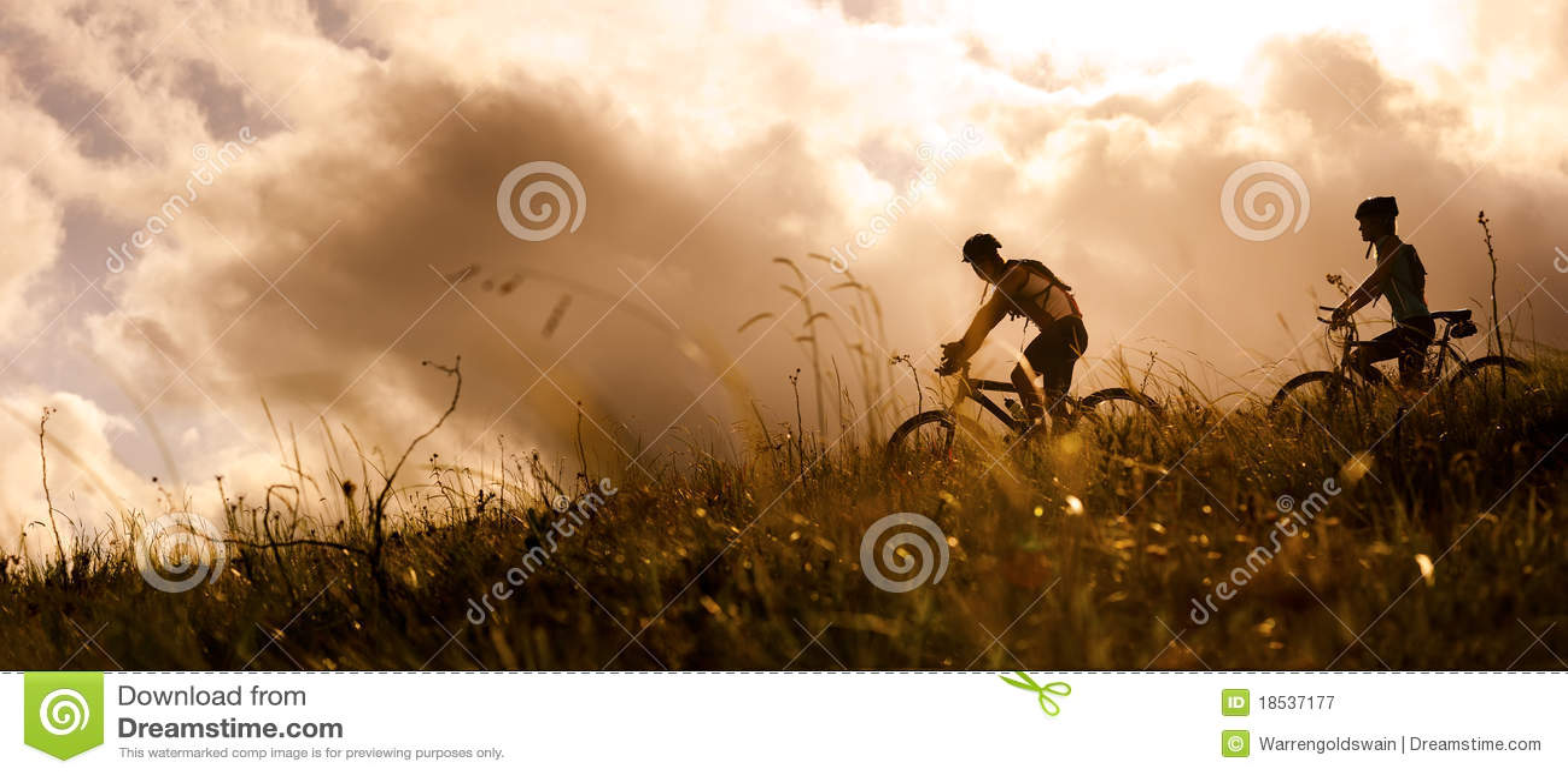 Mountainbike par utomhus