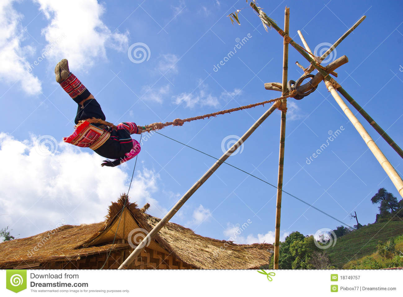 Mountaineer playing rope swing royalty free stock for Rope swing plans