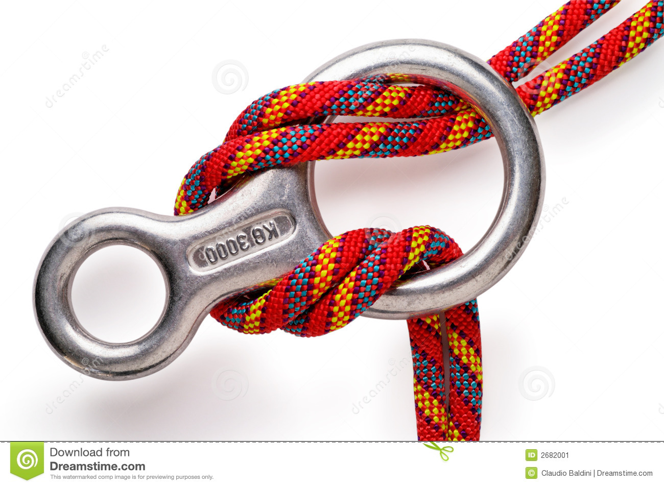 Download Mountaineering: descender stock image. Image of closeup - 2682001