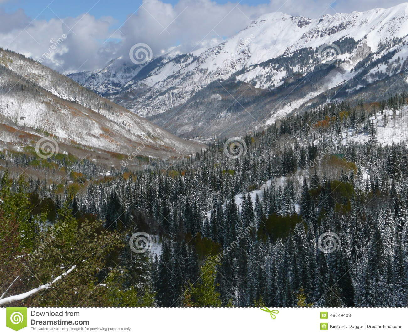 Mountains Along Million Dollar Highway, Colorado