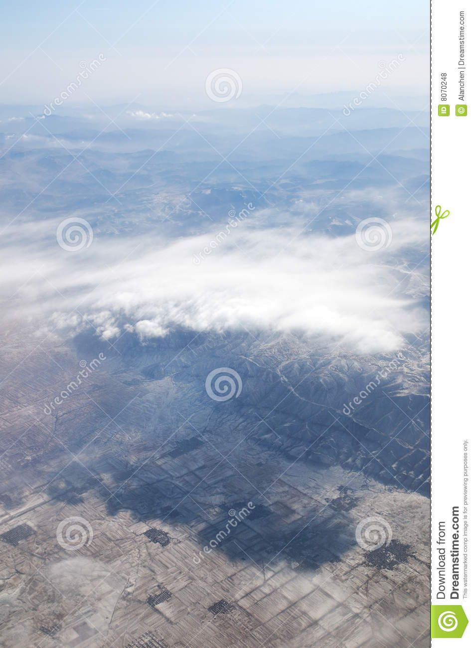 plane clouds and mountains - photo #22