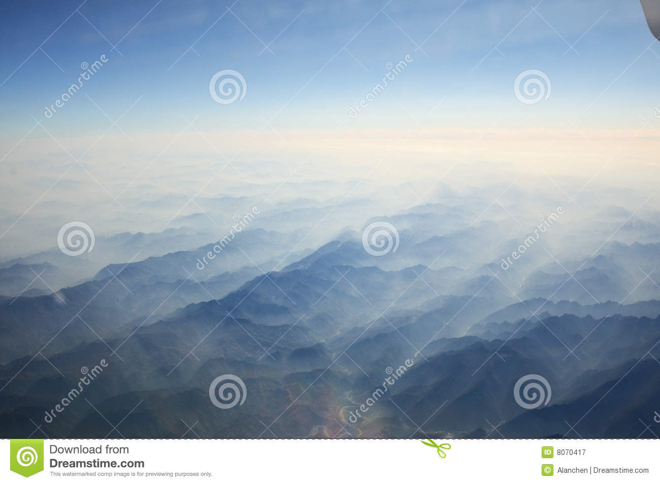 plane clouds and mountains - photo #21