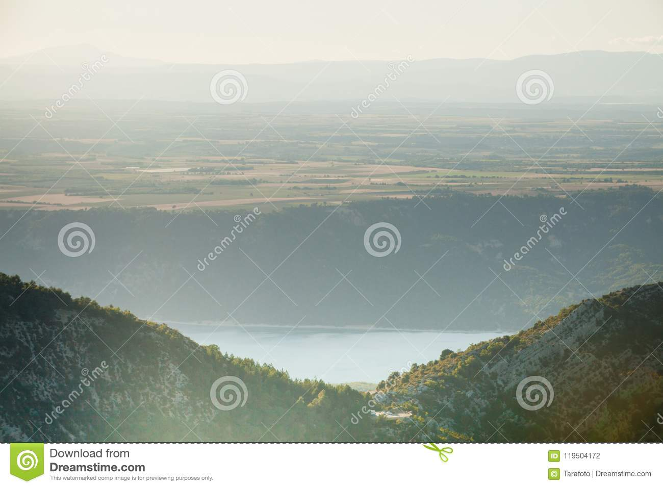 Mountains In Gray Fog Stock Photo Image Of Scene Morning 119504172