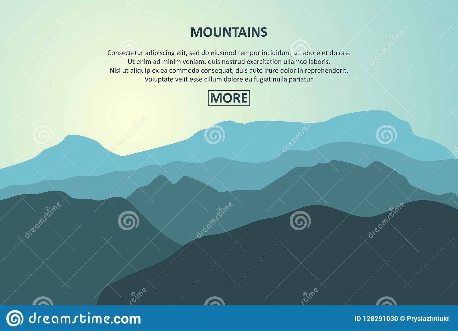 mountains landscape banner mountain journey tourism concept