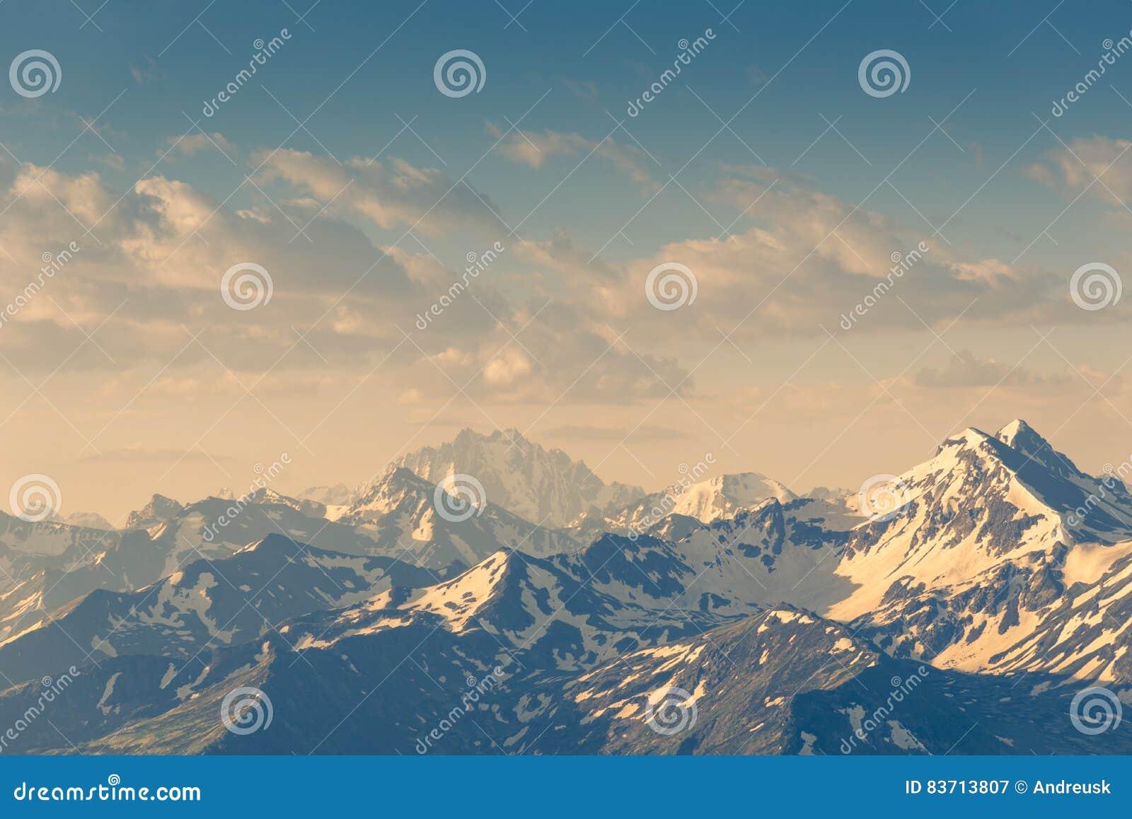 A Mountains Landscape Stock Photo