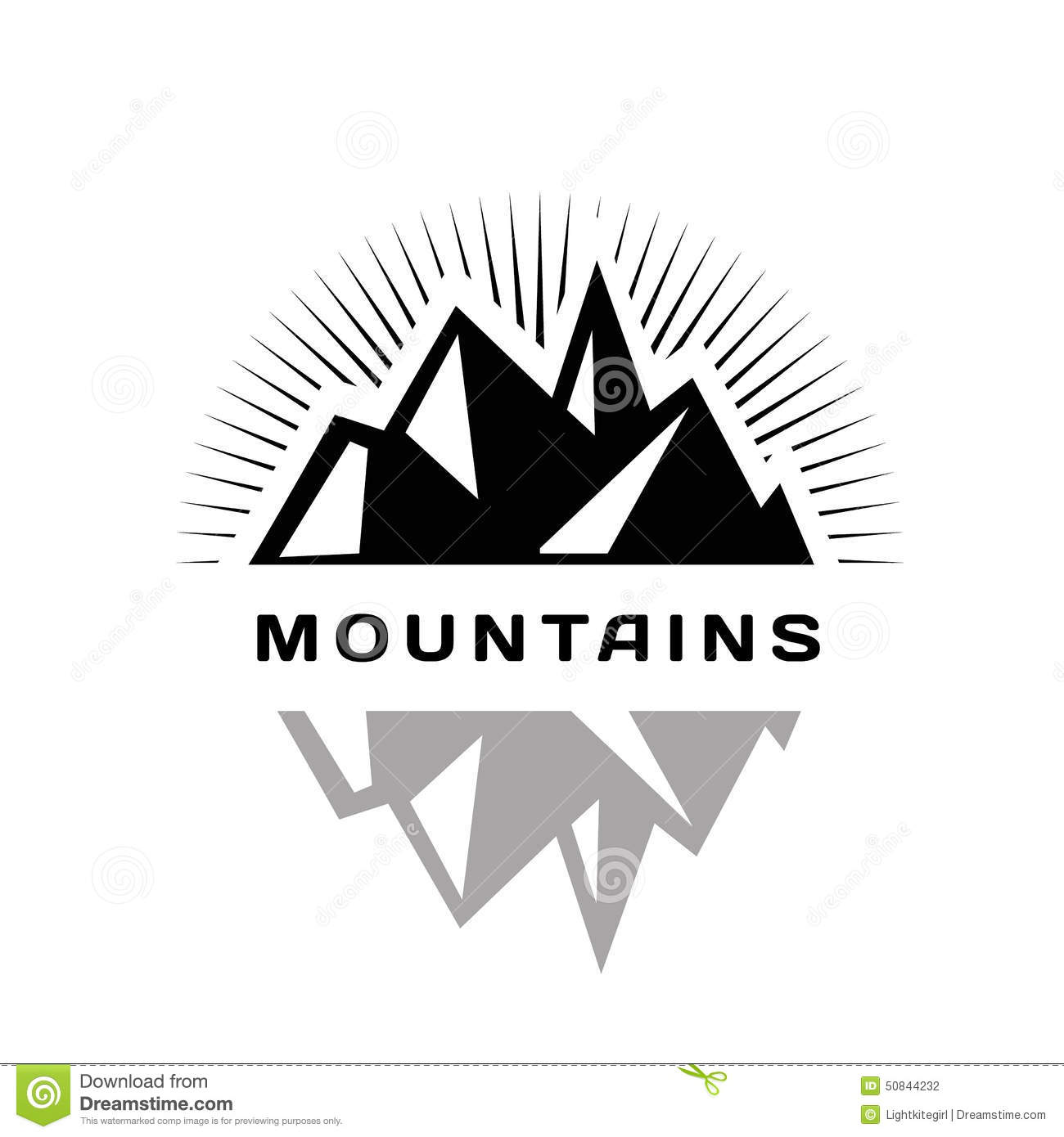 Mountains Logo For A Firm Company Or Corporation Stock Vector