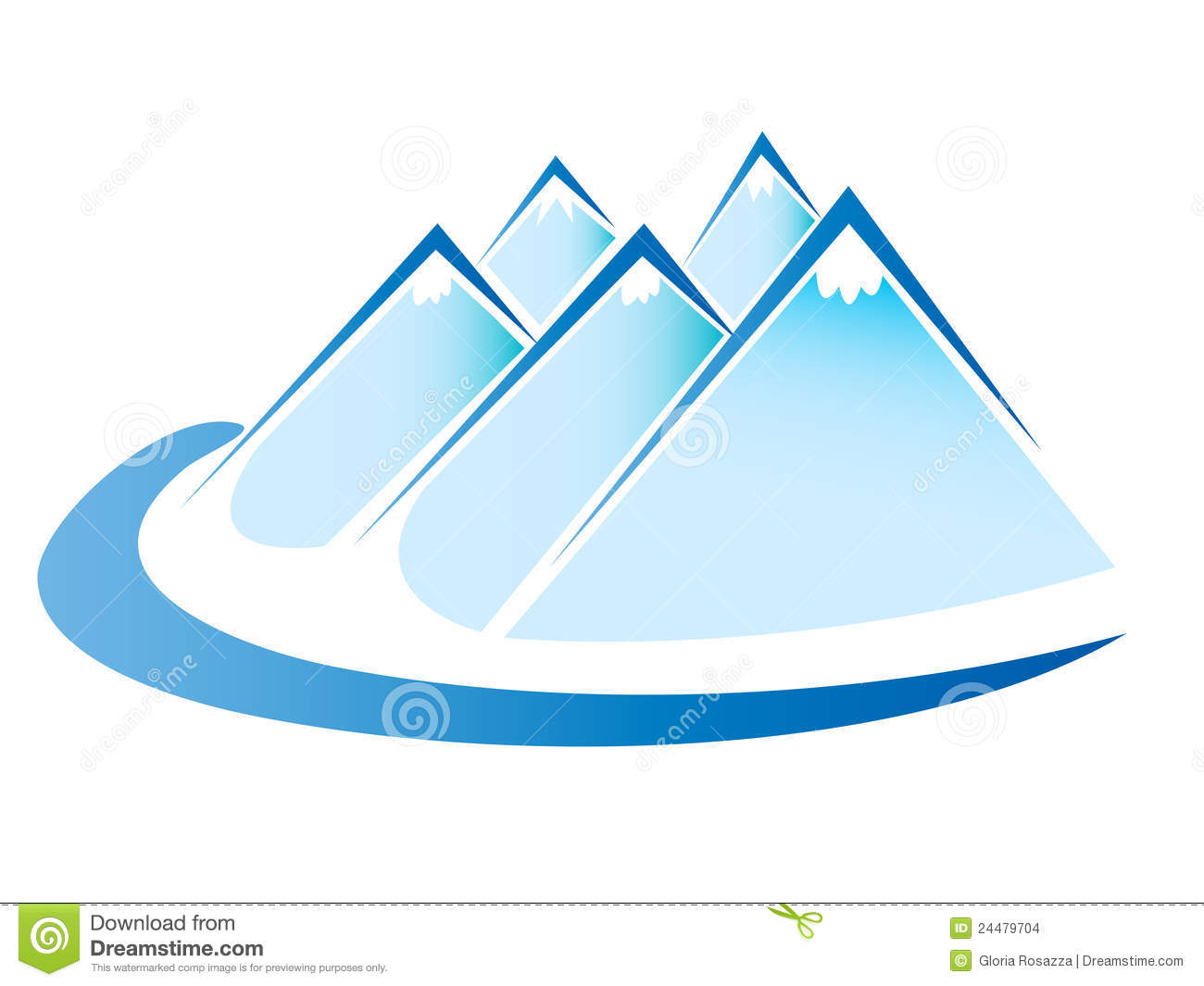 Mountain Outline Mountains logo vectorMountain Peak Outline