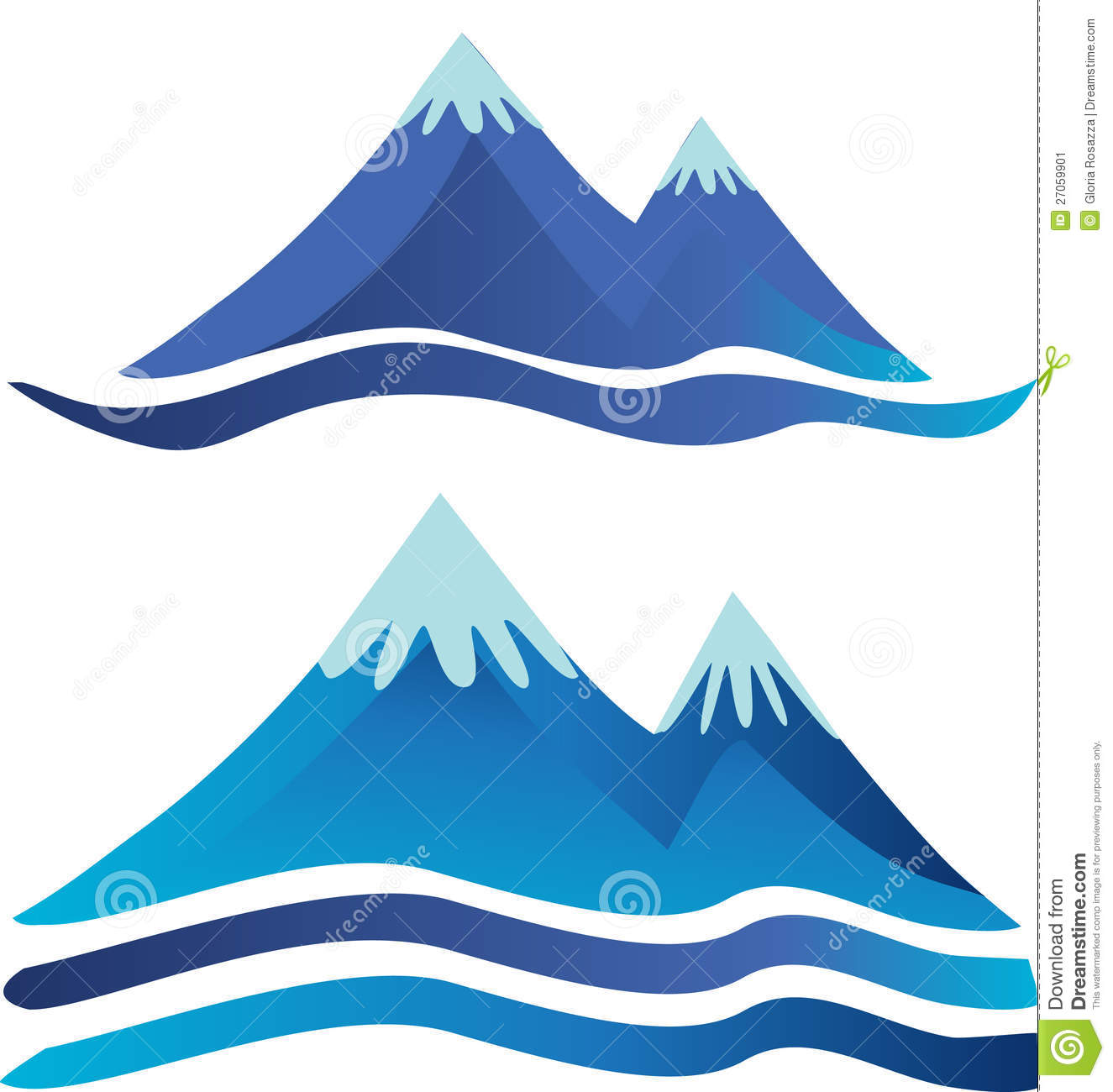 Mountains Logos Stock Vector Illustration Of Field Blue