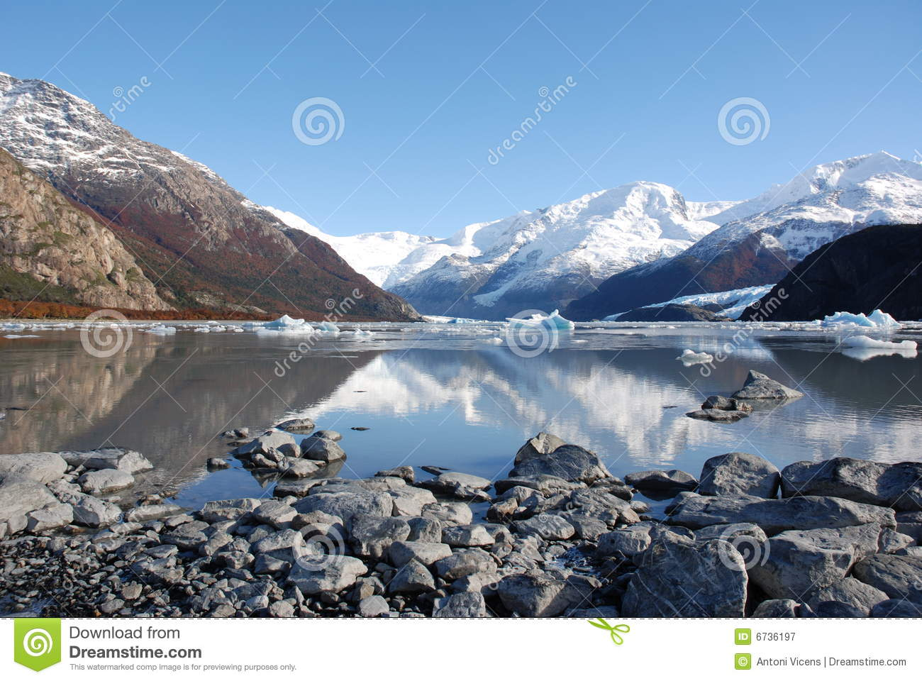 Mountains reflected in a Lake