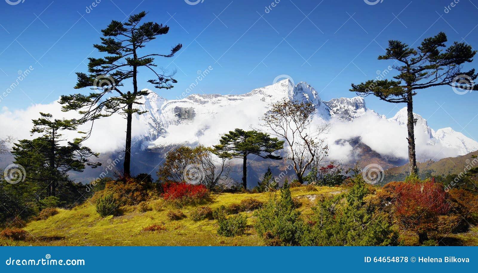 Mountains Scenic Landscape Autumn Himalayas