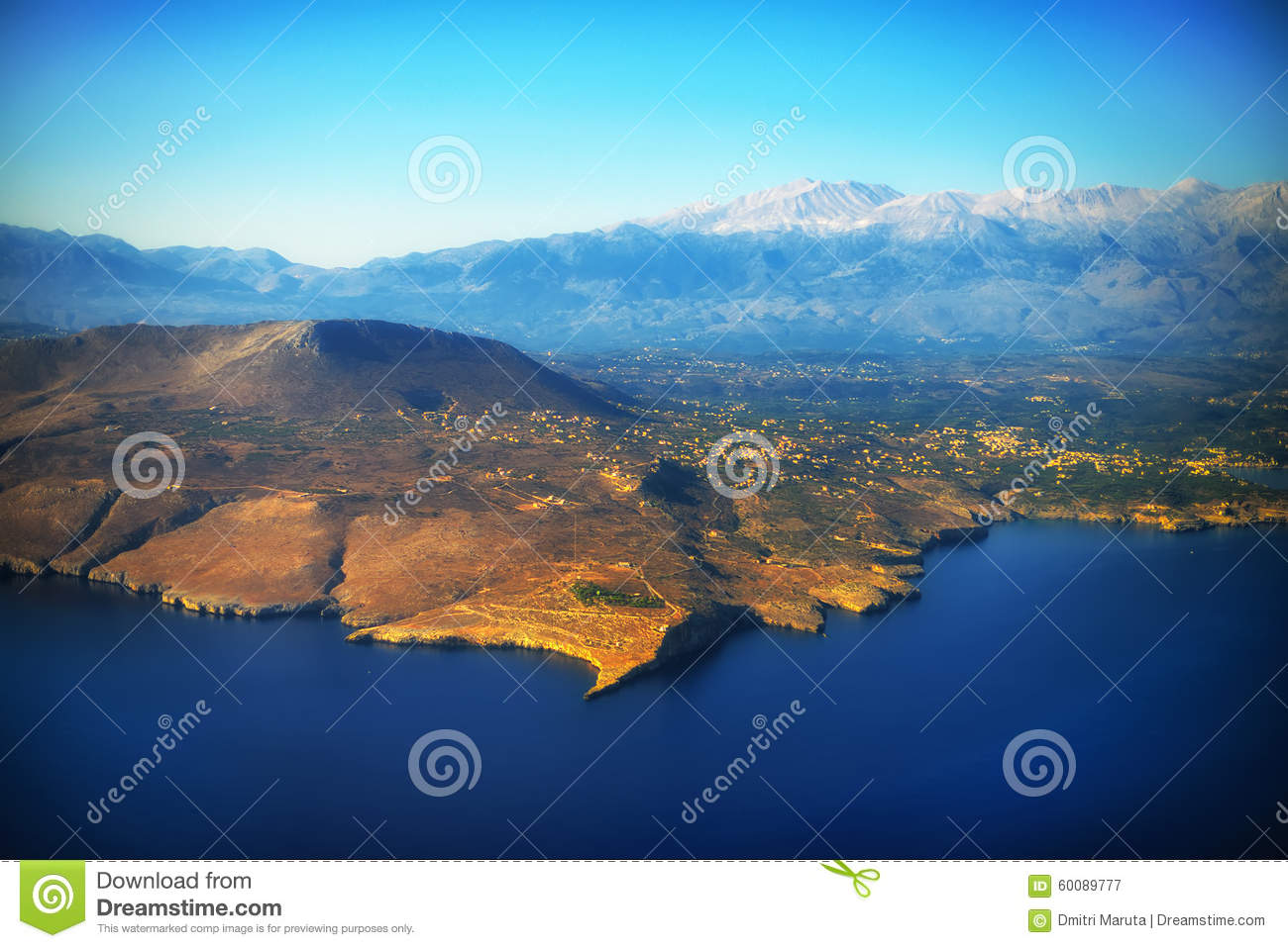 Mountains and sea stock photo image 60089777