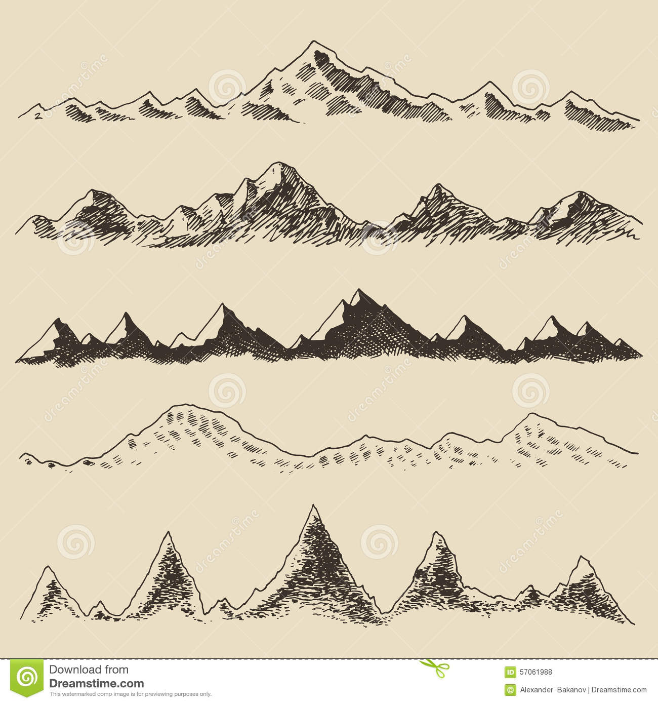 how to draw the mountains