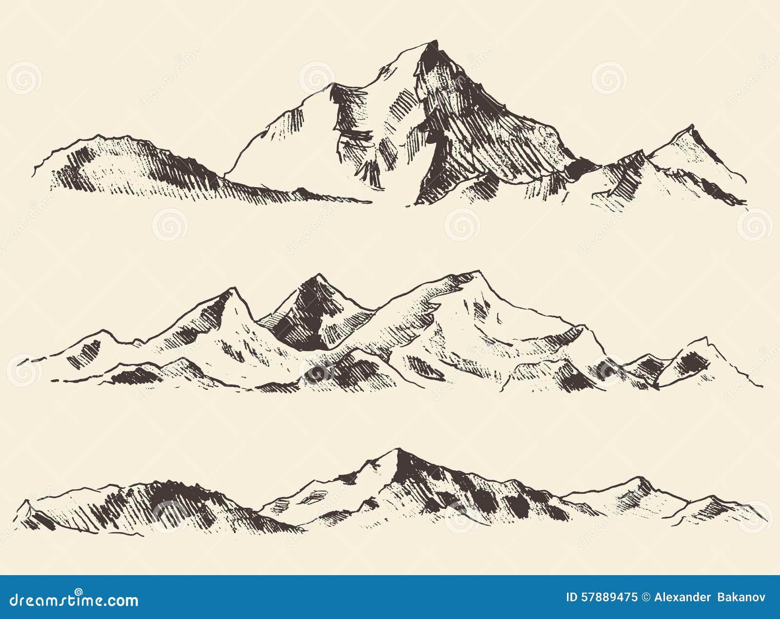 rocky mountain landscape clip art