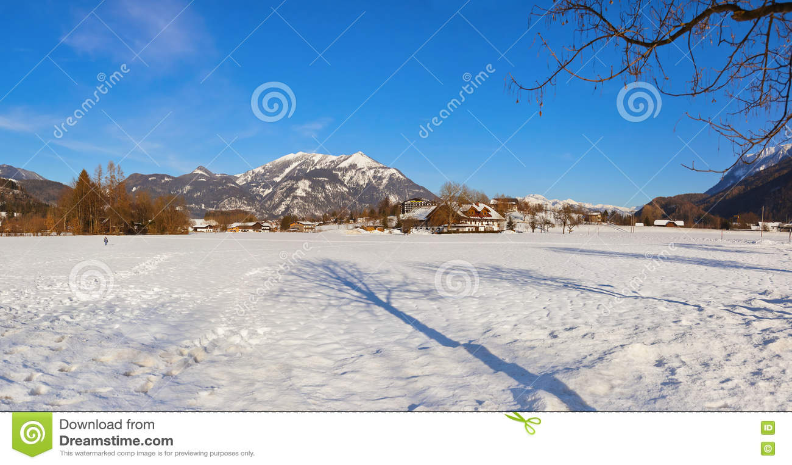 Mountains Ski Resort Strobl Austria Stock Image
