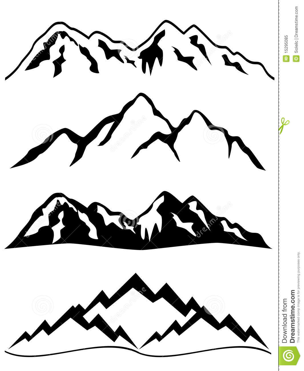 mountains with snow royalty free stock photo image 15295085