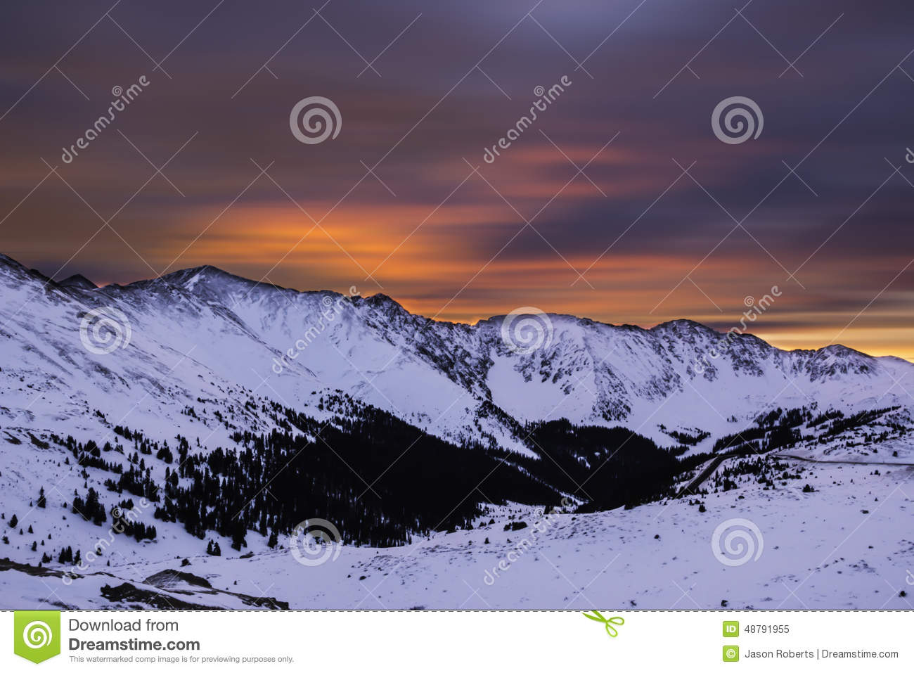 Mountains During Sunrise at Loveland Pass in Colorado