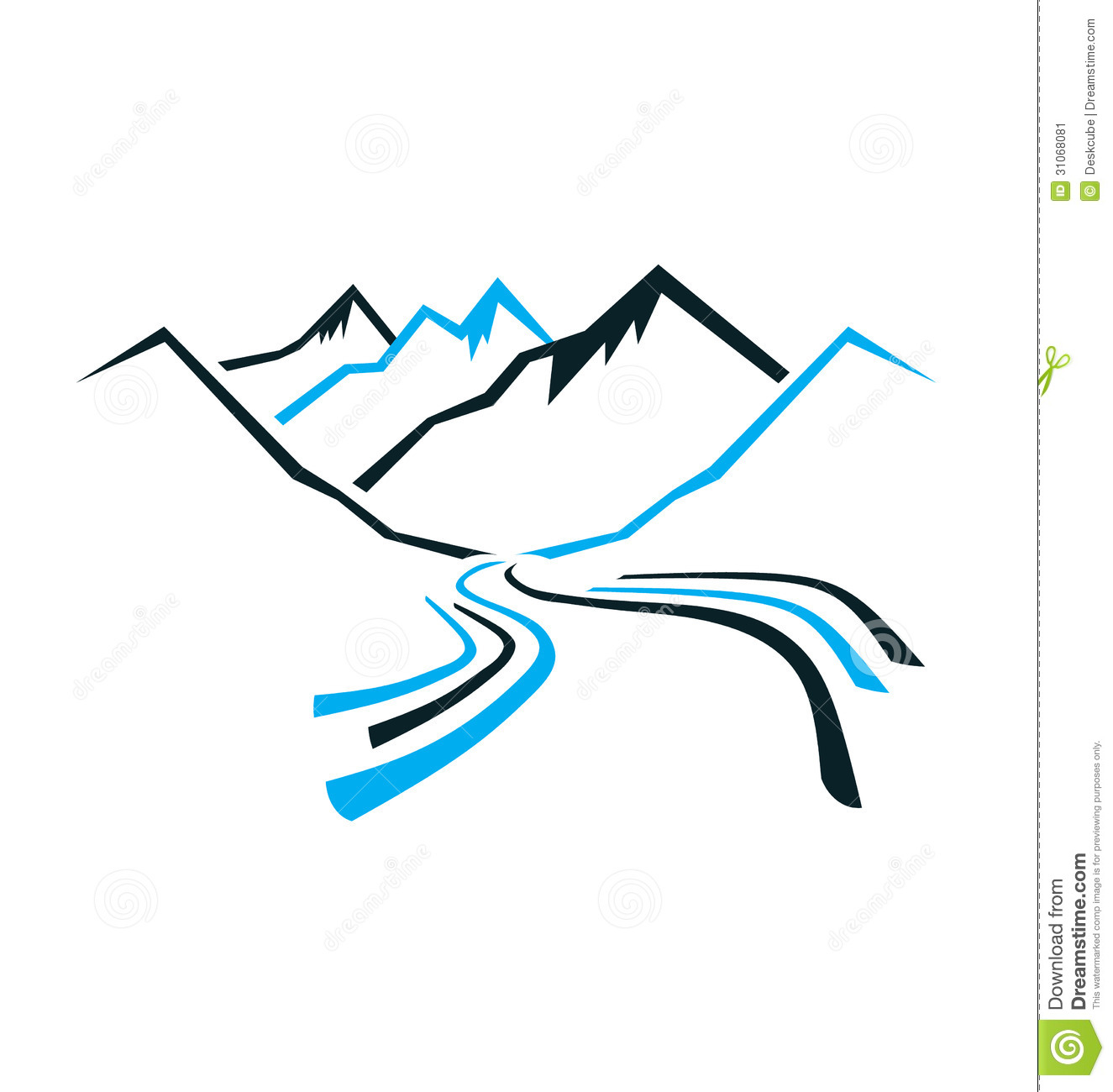 Mountains and Valley Logo stock vector. Illustration of ...