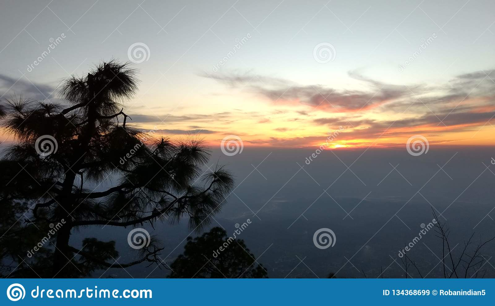 Mountains view at Vaishno devi temple