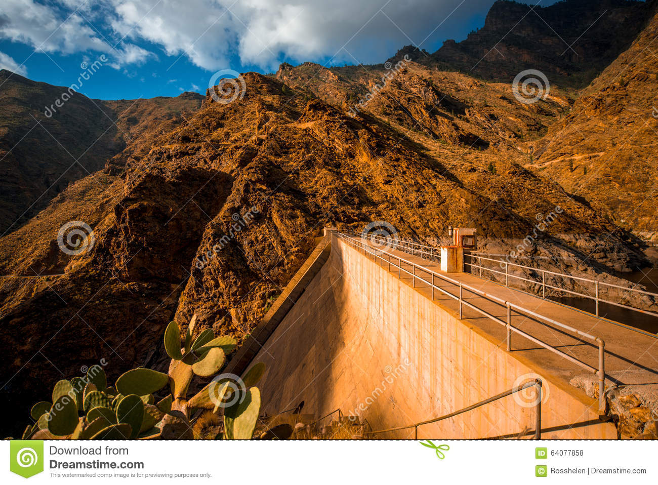 Mountains On Western Part Of Gran Canaria Island Stock Photo