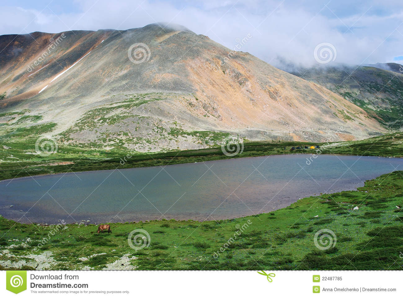 Mountainsee. Gorny Altai, Russland