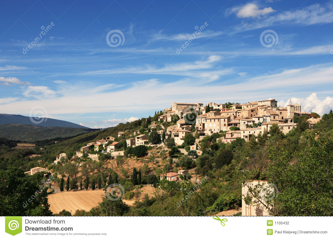 Mountaintop village in France