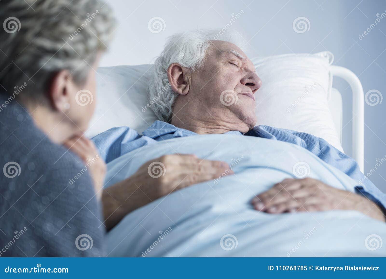 Mourant dans l hôpital