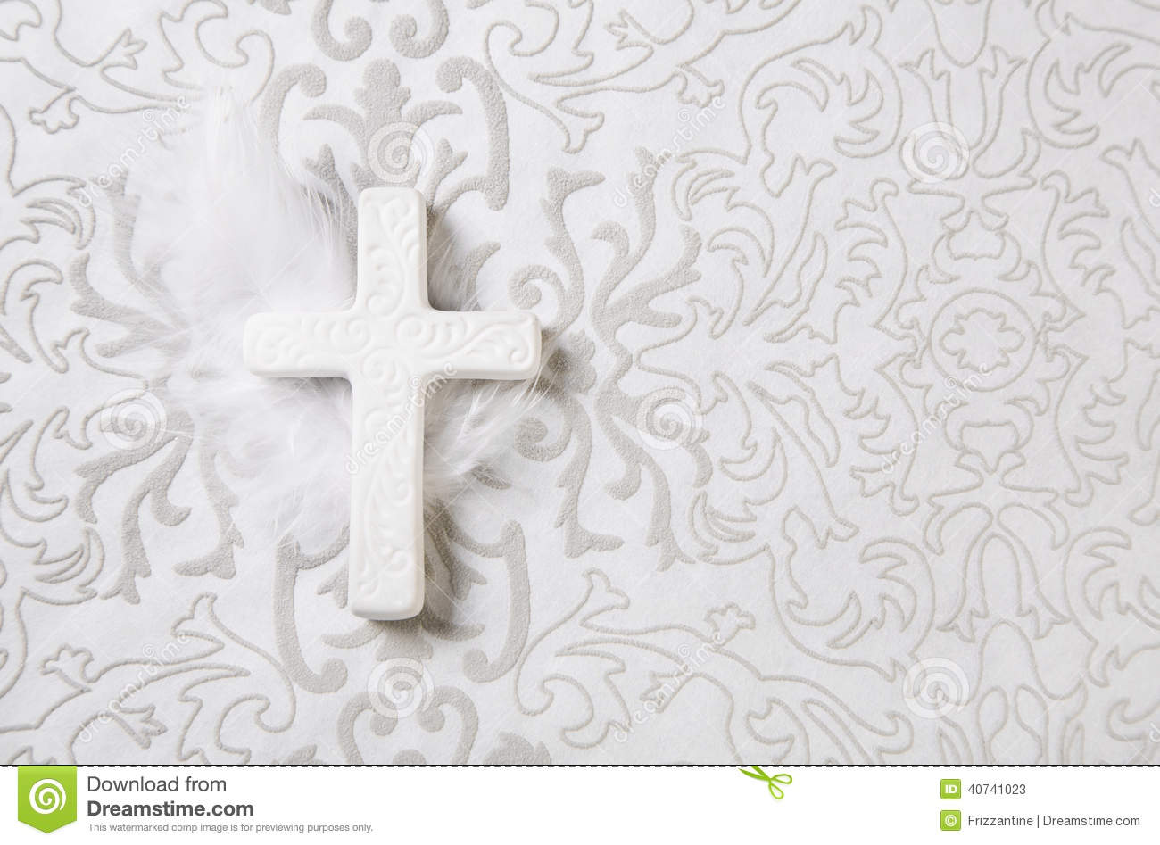 Obituary Background with Cross